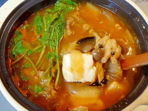 熱々旨辛のスタミナ鍋☆ 「牛肉の天醤鍋」