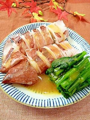 柔らかく煮る方法!「やりいかと春菊の酢みそ和え」