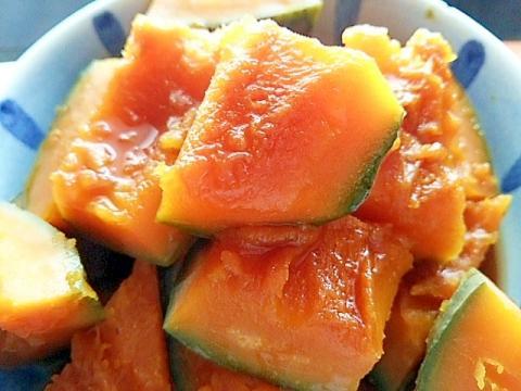 10分加熱で煮崩れなし☆フライパンでかぼちゃの煮物