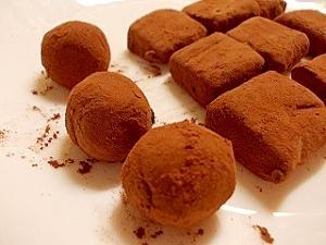材料3つ♪レンジで生チョコ ~トリュフも作れるよ~