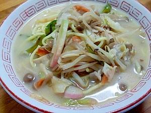 残り野菜の消費に(^^)野菜たっぷりちゃんぽん麺