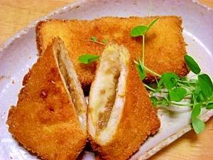 残ったカレーと食パンで☆揚げカレーパン