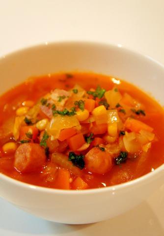即席!ミネストローネ~具だくさんのトマトスープ~