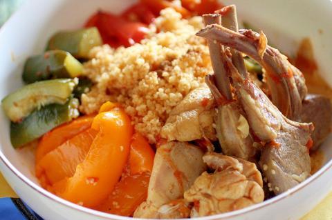 本格味!ラム肉と野菜のクスクス(モロッコ風タジン)