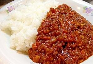 ホールトマト缶で作るキーマカレー