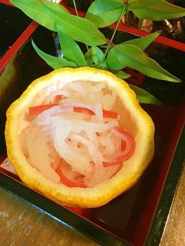 柚子を器に紅白なます☆2015おせち料理