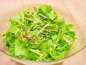 水菜と三つ葉のサラダ
