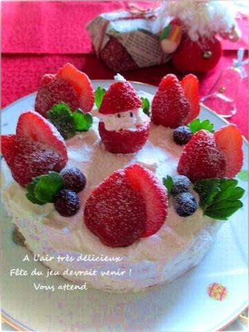 ☆★いちごのサンタのクリスマスケーキ☆★