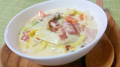 とろ~り濃厚❤白菜とベーコンのクリーム煮