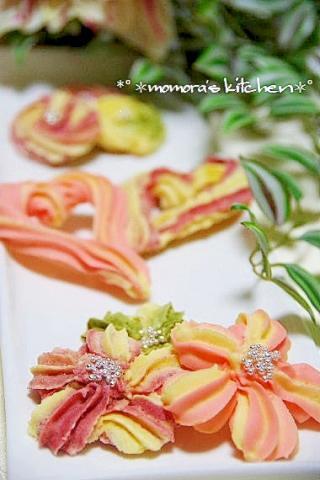 春色♪絞り出しクッキー♡桜・ハート♡簡単です