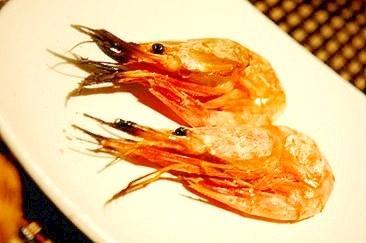 フライパンで簡単、甘海老の塩焼き