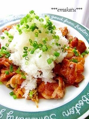 鶏キムチ~おろしポン酢のせ~