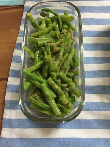 ささげ豆のさっぱりポン酢わさび和え