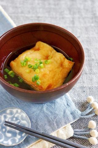 明石焼き風♪とろとろ卵豆腐入りこんがりお揚げさん