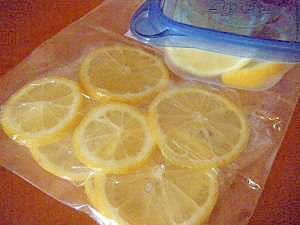 使い切れないレモンは冷凍保存♪