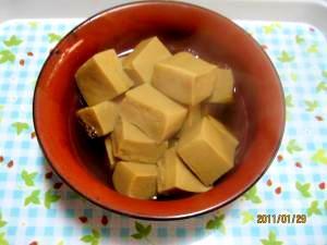 基本の高野豆腐の煮物