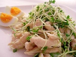 ささみとブロッコリースプラウトのサラダ ★ 栄養◎