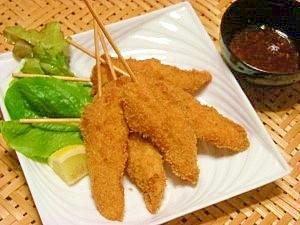 マヨネーズでしっとり☆鶏ササミ串カツ
