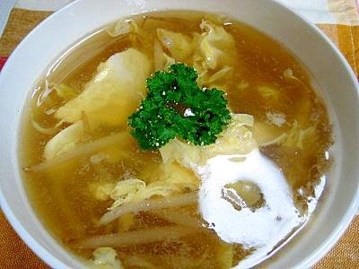 簡単でうまい!もやしの卵スープ