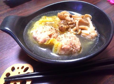 冬ダイエットスープ♪鶏団子スープ☆
