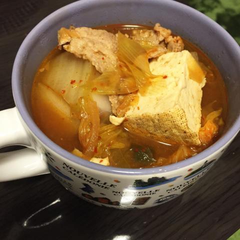 具材たっぷり✳︎チゲ鍋風スープ