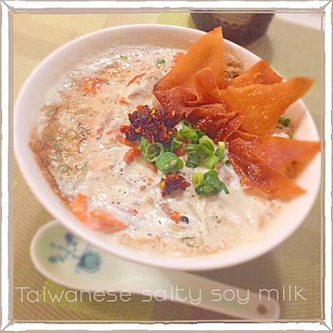 簡単美味しーヘルシー。台湾の食べる豆乳スープ