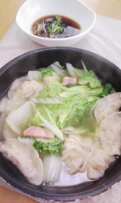 餃子と白菜鍋