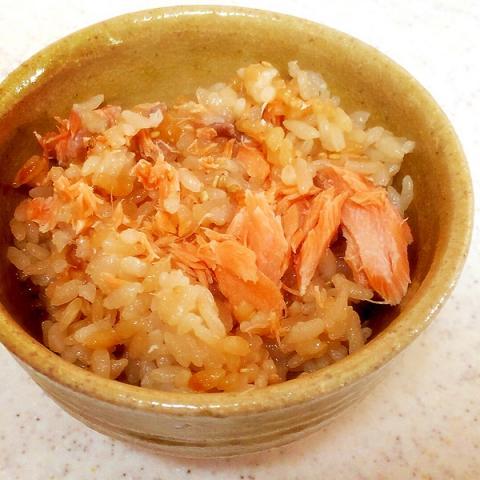 鮭の♡炊き込みご飯
