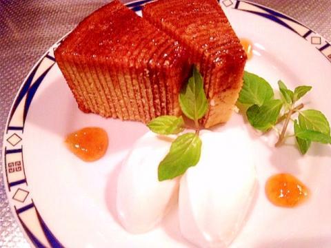 【超簡単・おもてなし】バームクーヘンをアレンジ