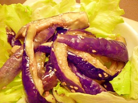 レンジ蒸しなすのナムル風サラダ